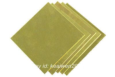 2pcs 150X150X1.5mm H62 Brass Sheet Brass Strip 1.5mm Thick Riveting Cutting Tool 2