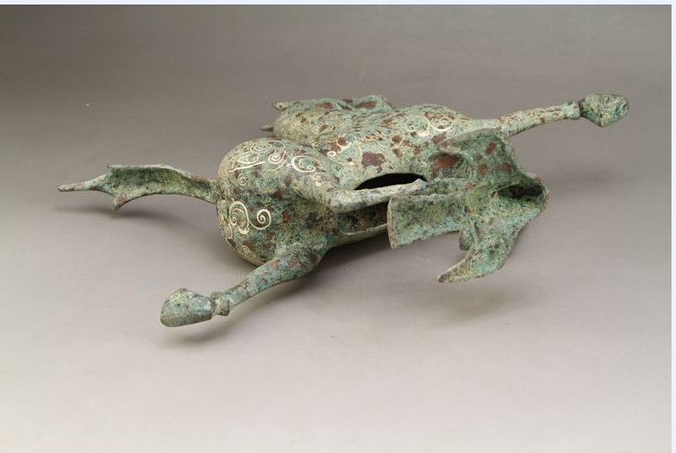 Ancient Chinese bronze liu yingao head horse, the horse step flying yan, 5