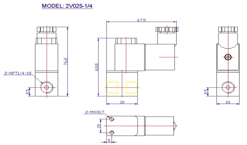 "Pneumatik Ventil 2//2 Wege 12 Volt 1//4/"" 1,5-10 Bar 2 Wege Magnetventil"