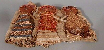 Peru Peruvian Central Coast Chancay Fabric Cotton Burial Dolls  #3 8