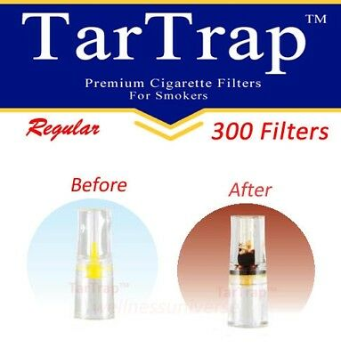 TarTrap Disposable Cigarette Filters Bulk Pack (300 Filters) 2
