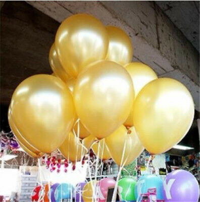 100pcs Colorful Latex Balloon Pearl Wedding Birthday Bachelorette Party 10 inch 7