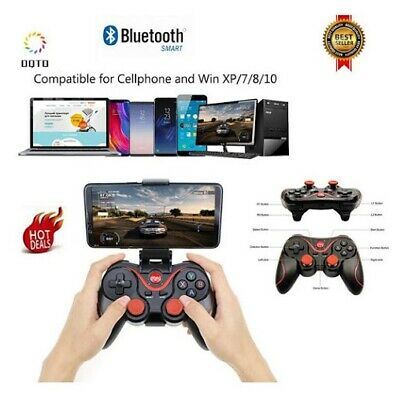 Bluetooth Wireless Gamepad Joystick Joypad Controller di gioco per PC Android iP 3
