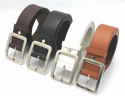 Les hommes cuir véritable robe ceinture Casual pin boucle ceinture courroi CH 2
