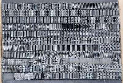 HEADLINE Bleischrift 7,5 mm Bleisatz Buchdruck Handsatz Lettern Alphabet Letter 2