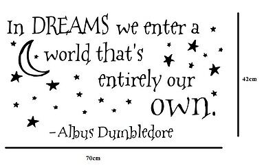Wall Stickers In Dreams We Enter A World Harry Potter Vinyl Decal