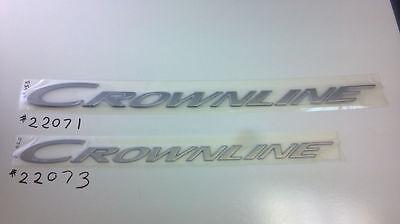 "NEW OEM CROWNLINE BOAT LPX RACING /""LPX/"" NAMEPLATE  22012"