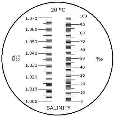 Refraktometer Salz Salinität Dichte Aquarium Meerwasser Salzwasser        R08 3