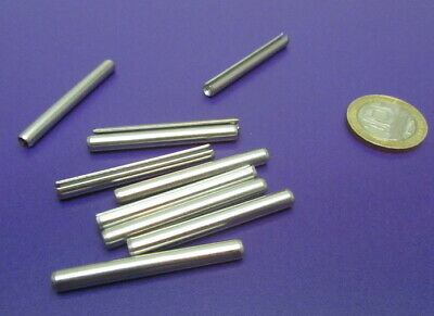 18-8 Stainless Steel Slotted Metric Spring Pin M4 Dia x 40 mm Length, 30 pcs 9