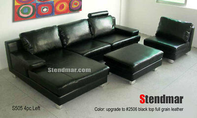 Astonishing 4 Pc Modern European Design Genuine Leather Sectional Sofa Machost Co Dining Chair Design Ideas Machostcouk