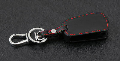 VAUXHALL MOKKA  KEYRING  METAL CHROME KEY RING FOB BLACK  PU LEATHER