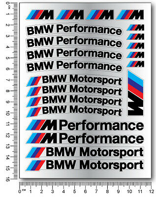 Mpower decal set 53 stickers wheel rim bmw performance Motorsport 3 5 7 series 2