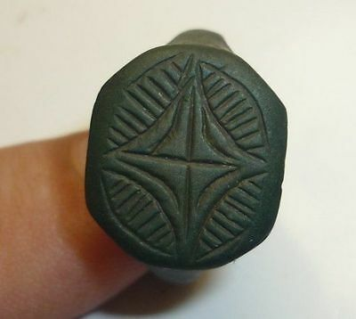 Antique Ottoman Bronze Ring Green Patina