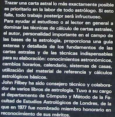 Cartas Astrales - John Filbey - Ed. Edaf 1988 - Ver Indice