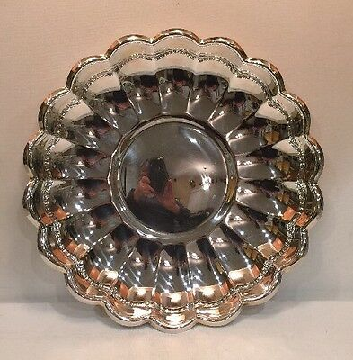 "Silverplate Round Bowl Plate Server Read & Barton # 109 13"" Diameter 1 1/2"" Tall 4"
