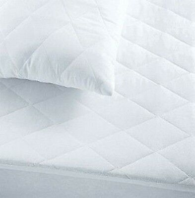 King Size100% Cotton Cover 200GSM Fill Fully Fitted Quilted Mattress Protector