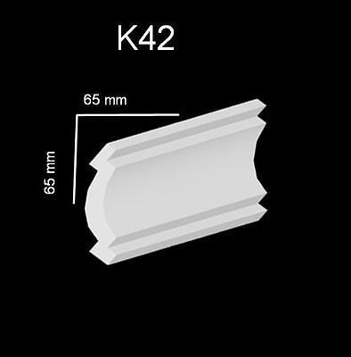 1 Aussen Ecke Zierleisten Stuckprofile Zierprofil Stuck passend zu 100x100mm K 1