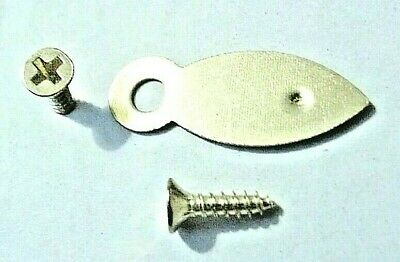Picture Frame Turn Buttons 19mm Brassed With Screws x 10 or 100 Artist Crafting 10