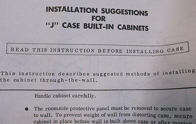 """j"" Case Built-In Cabinet 26In Tall 15 In Wide 5"