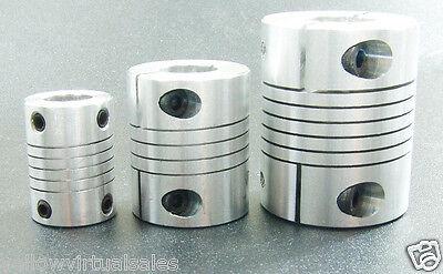 10 mm x 11 mm Aluminum Flexible Shaft Clamp Coupler Coupling Linear Motion 10x11