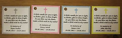 Funeral Personalised Remembrance & any occasion candle favours. Light in memory 9
