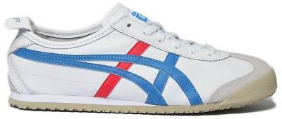 Onitsuka Tiger Mexico 66 Womens Soft Leather Trainers In White Blue Size UK 3 - 2