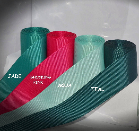 "3/8"" 5/8"" 7/8"" 1.5"" Grosgrain Ribbon 4 Yards of 1 Color Solid Bulk Wholesale 2"
