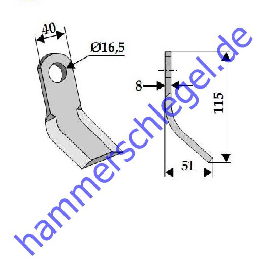 2x Buschen Set für Mulcher EF EFG GEO STARK KELLFRI 2x Y-Messer Schrauben