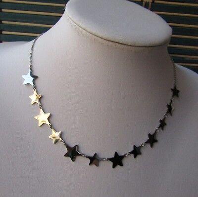 Collana con 12 stelle in acciaio 316L - Oro/Argento Moda Novità 10