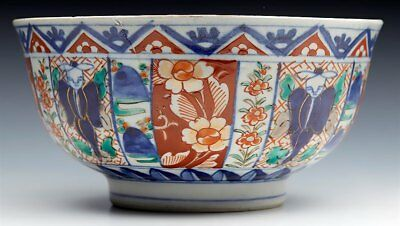 Superb Antique Japanese Meiji Imari Patterned Figural Porcelain Bowl 19Th C. 6