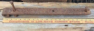 Primitive Antique Barn Door Strap Hand Forged Salvaged 3