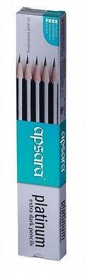 30 Apsara Platinum Pencils  Extra Dark Pencils   172 mm Each  30 Pencils