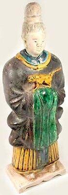 Ming China Antique Sancai Statuette X-Large Glazed Multi-Color w/ Tiger 1600AD 3
