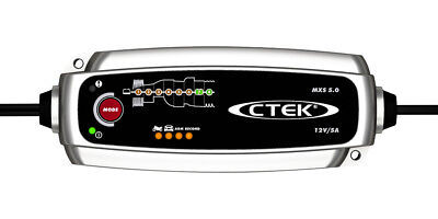 Chargeur batterie moto CTEK MXS 5A 12V de 1.2-100ah garantie 5ans avec sonde 3