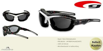 Sportbrille mit Band Bügel Windschutz Sonnenbrille Mulitsport Fliegerbrille 2