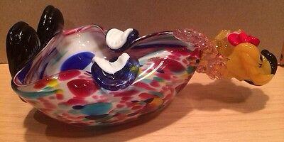 Vintage Murano Italian Art Glass Clown Figurine Bowl - Hand Blown 4