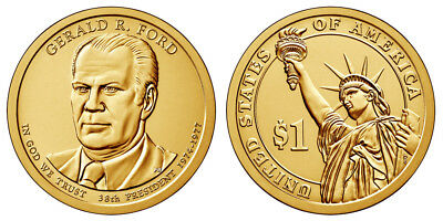 2016 P&D Presidential One Dollar Coins Nixon Ford Reagan U.S. Mint Coins Money 2