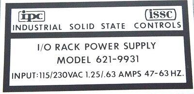 Nib Ipc Issc 621-9931 I/O Rack Power Supply 115/230Vac, 6219931 4