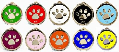 Personalised Engraved Pet ID Collar Tags Cat Dog Various Designs FREE UK DEL 3