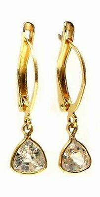 "19thC Antique 2ct Zircon ""Matara Diamond"" Hindu Kalpa Tree Leaf Persian Zargon"
