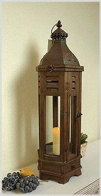 gro e laterne holz braun bodenlaterne windlicht landhaus h82cm eur 109 00 picclick de. Black Bedroom Furniture Sets. Home Design Ideas