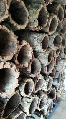 Kork Röhre: Natur Kork, Kork Rinde, Nager | gereinigt | 60 cm lang, ⌀= 15-20 cm 5