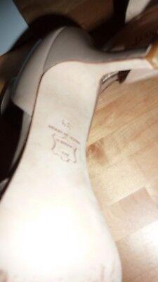 LK BENNETT UK 6 39 TAUPE Patent Beige Heels Peep Toe Courts Shoes LTD FAB RARE!! 9