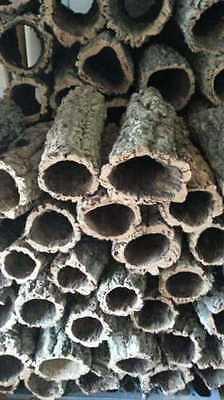 XXL Korkröhre 60 cm | ⌀ bis 20 cm |Naturkork Korkrinde Kork Röhre Höhle Zierkork