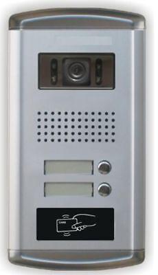 """2 Familien Video Türsprechanlage Gegensprechanlage Unterputz mit 2 Monitore 7"""" 6"""