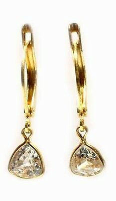 "19thC Antique 2ct Zircon ""Matara Diamond"" Hindu Kalpa Tree Leaf Persian Zargon 3"