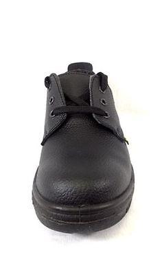 Herrenschuhe Grafters Mens Safety Shoe Steel Toe Cap Kitchen Lightweight Work Trainer Black Stiefel
