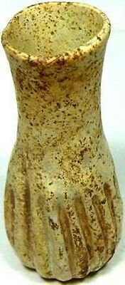 Ancient Roman Hellenic Syria Glass Ribbed Oil Unguent Perfume Bottle 100AD 3