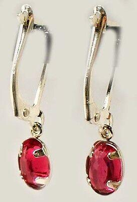 Antique 19thC Ruby Ancient Celtic Magic Amulet Lightening Plague Evil Earrings 3