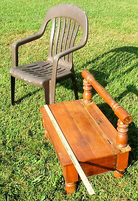 vtg large wooden shoe shine stand primitive unique (LOCAL PICKUP ONLY) 10